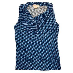 MICHAEL Michael Kors Dot Print Drape Neck Tank Top